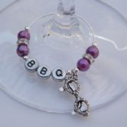 Sunglasses Personalised Wine Glass Charm - Elegance Style